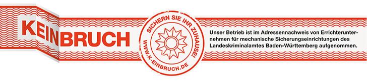 Prüfsiegel der Initiative k-einbruch.de